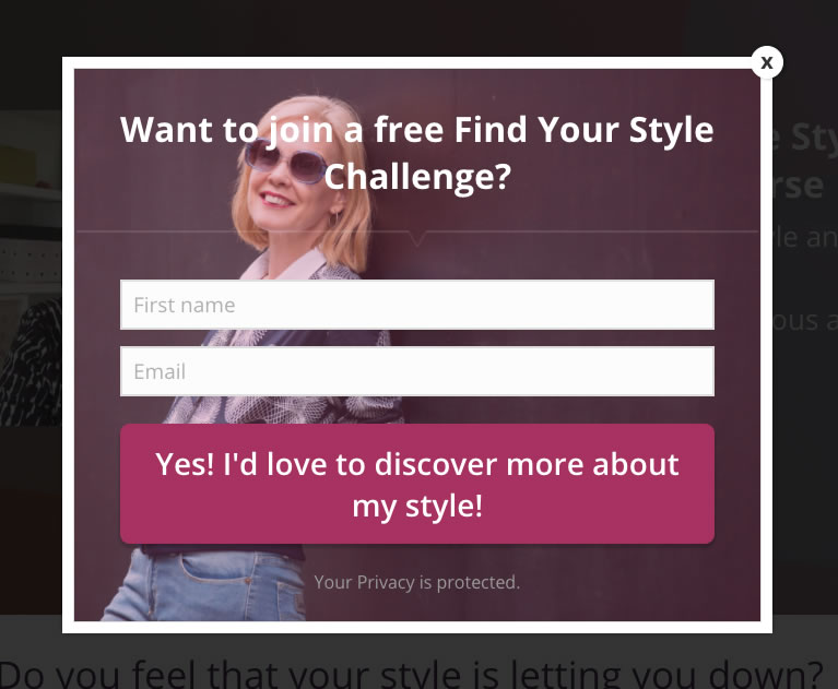 How to effectively use popups to generate lots of free leads for your business | 40plusstyle.com